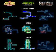 Metroid Nes Map Map Comparison Ii Vs Am2r Vs Sr Metroid