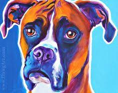 boxer dog art boxer dog portrait canvas print of la shepard painting 8x10 dog
