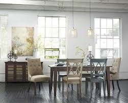Blue And White Dining Chairs by Rectangle Rustic Brown Wooden Dining Room Table Added By Shabby