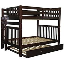 Amazoncom Bunk Bed Full Over Full With Trundle In Espresso - Full over full bunk bed with trundle