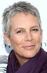 gray hair styles for 50 plus cheveux gris courts marilyn s pinterest jamie lee gray hair