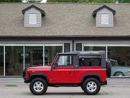 red land rover defender 1994 land rover defender 90 convertible copley motorcars