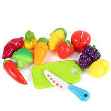 cuisine jouets 12pcs fruit plastique légumes cuisine jouets coupe jouet éducatif