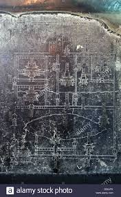 The Forest Map Stele Inscribed With An Old Map Of Xian City In The Forest Of