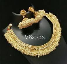 jewelry designs necklace sets images Antique designer necklace set vs20024 volama store jpg