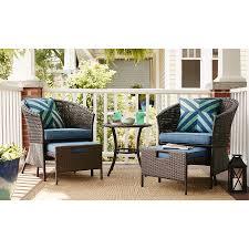 Patio Chair With Hidden Ottoman Garden Treasures Patio Furniture Hidden River 3pc Extruded