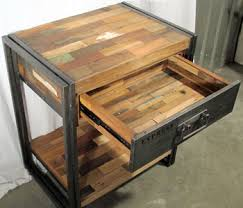 Reclaimed Wood Vanity Table Boat Wood Vanity Side Table Or Night Standimpact Imports