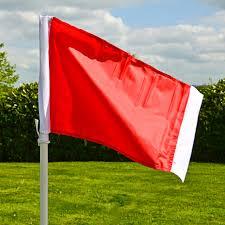 Prestige Golf Flags Football 25mm Corner Flag Spring Loaded Net World Sports