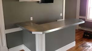Zinc Top Bar Table Zinc Bar Top L Shaped With 45 Degree Corner