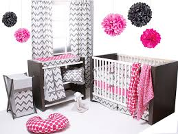 girls bedding collections total fab pink and grey crib bedding sets for baby girls u0027 nursery