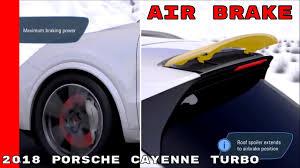 2018 porsche cayenne turbo air brake u0026 aerodynamics youtube