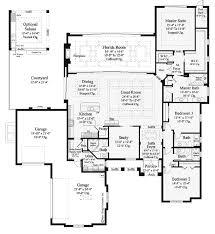 open floor plans for single story mediterranean modern homes 3394