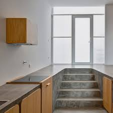 Concrete Kitchen Cabinets Concrete Floor Beautifully Doubles As Kitchen Counter 2015