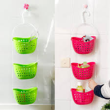 online get cheap bathroom plastic shower caddy aliexpress com 3pcs set shower bathroom hanging basket mutifunctional caddy plastic rack kitchen organizer storage container space