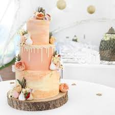 coral themed wedding cake 3 tiers of victoria sponge chocolate and