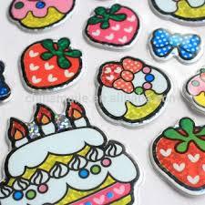 happy birthday cakes shape stickers foam sticker