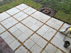Stone Patio Diy by Inexpensive 16 In X 16 In Patio Stones Surrounded By Pea Gravel