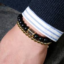 luxury man bracelet images Fashion classical gold color rectangle cuboid luxury bracelet men jpg