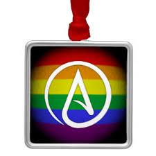 rainbow atheist ornaments keepsake ornaments zazzle