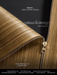 Interior Design Magazines by Kamari Commercial Wall Covering In Interior Design Magazine C U0026d