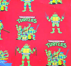 tmnt wrapping paper turtle gift wrap pictures to pin on pinsdaddy