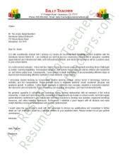 sample cover letter for kindergarten teaching position how to do