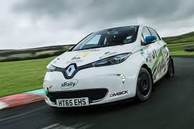 renault rally 2016 driving an erally renault zoe the world u0027s first junior ev rally