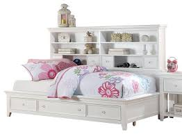 Full Size White Storage Bed With Bookcase Headboard Bookcase White Bookcase With Storage White Storage Beds Bookcase