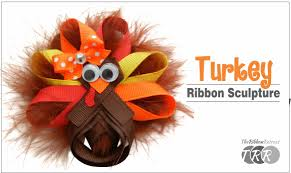 how to make a turkey out of a pine cone how to make a turkey ribbon sculpture theribbonretreat
