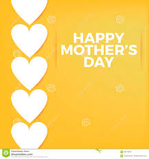 happy mothers day background and card template with white hearts