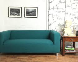 Teal Couch Slipcover Klippan Cover Etsy