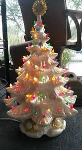 Large Ceramic Christmas Tree Vintage White Opalescent Large Ceramic Christmas Tree Ebay