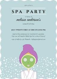 aqua spa girls sweet sixteen birthday party invitation design