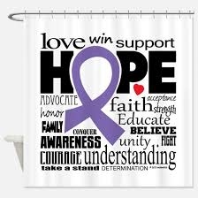 Words Shower Curtain Alzheimers Disease Purple Ribbon Shower Curtains Cafepress