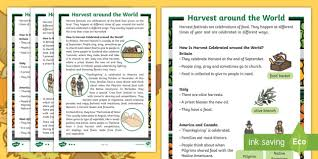 ks1 harvest around the world differentiated fact file