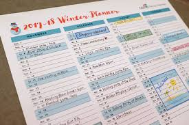 printable calendar designed for families