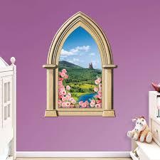 fairy tale castle instant window wall decal shop fathead for