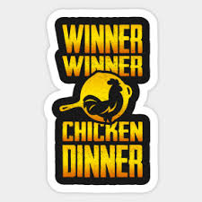 pubg quotes winner winner chicken dinner stickers teepublic