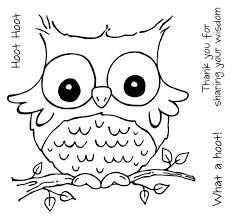 cute owl coloring page chuckbutt com