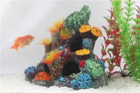 Home Decor Artificial Plants Resin Coral Home Decoration Artificial Plants For Aquarium