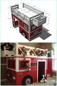 Fire Truck Bunk Bed Diy Kids Bunk Bed Free Plans Picture Instructions