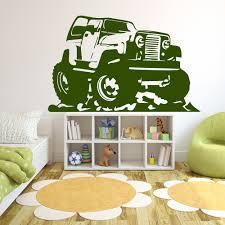 cartoon jeep wall sticker car wall art