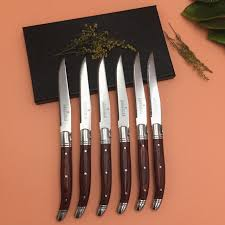 Laguiole Kitchen Knives To Encounter 6pcs Steak Knife Stainless Steel Cutlery Knife