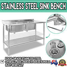 Stainless Steel Caravan Slide Out Kitchen 2 Drawers Sink Bench Used Kitchen Cupboards Bench Sink Adelaide Ebay