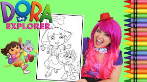 dora coloring book pages coloring dora the explorer princess giant coloring book page