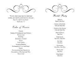 printable wedding programs free free printable wedding program templates word template ins