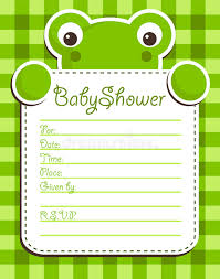 frog baby shower baby shower frog invitation card stock vector illustration of