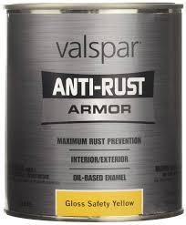 amazon com valspar 21845q safety yellow enamel 1 quart automotive