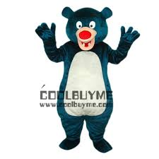 wholesale blue panda fancy dress bear life size mascot