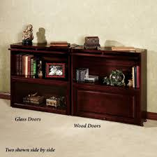 sauder bookcase with glass doors furniture inspiring double barrister bookcase with glass door and